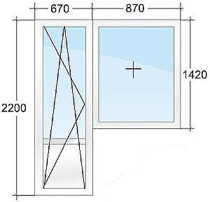 Размеры балконных дверей пвх. - примеры ремонта - каталог ст.