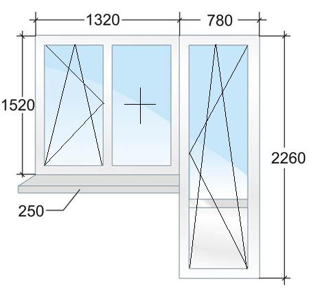 Балконный блок с энергосберегающим стеклопакетом. Цена 17306 рублей в Санкт-Петербурге.