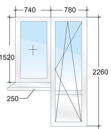 Размеры и цены пластиковых окон в домах серии ii-18 в санкт-.