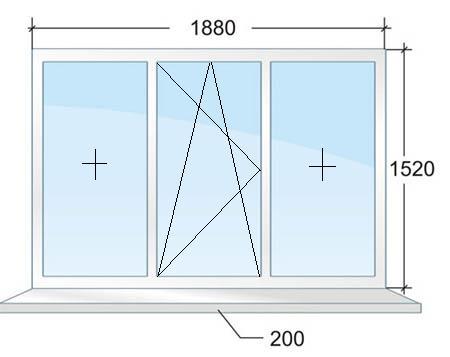 Окно с энергосберегающим стеклопакетом. Цена 11442 рубля в Санкт-Петербурге.