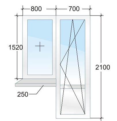 Балконный блок с энергосберегающим стеклопакетом. Цена 11793 рубля в Санкт-Петербурге.