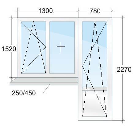 Размер окна в панельном доме на балкон..