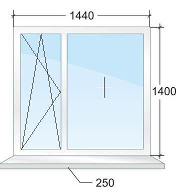 Окно с энергосберегающим стеклопакетом. Цена 8493 рубля в Санкт-Петербурге.