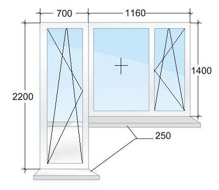 Балконный блок с энергосберегающим стеклопакетом. Цена 15562 рубля в Санкт-Петербурге.