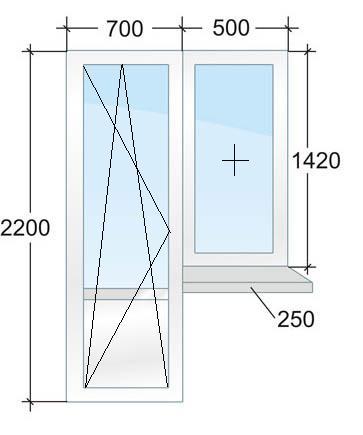 Окна в домах серии п42 и п43. размеры и цены пластиковых око.