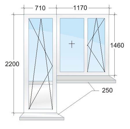 Пластиковые окна и лоджии в домах серии п44т, п44м, п44тм. р.
